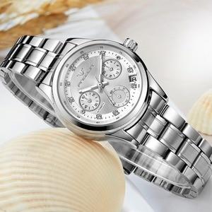 Image 3 - Reloj mecánico automático para mujer, cronógrafos para mujer, FNGEEN, reloj de negocios informal con fecha, reloj de vestir para mujer 2020