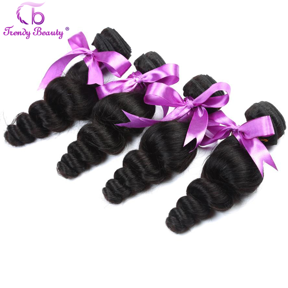 Peruvian Loose Wave Trendy Beauty Human Hair Extention 4pcs