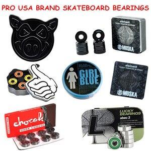 Image 1 - Skateboard Bearings Skate Bearing ABEC 5/ABEC 3/Ceramic Speed Skating Skateboarding Longboard Bearings