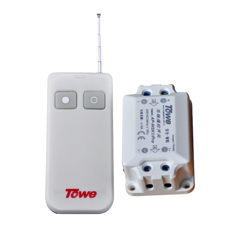 TOWE AP-WSK1/PRO Wireless 220V Single Way Double Control Large Power Through Wall Intelligent Power Remote Control Switch