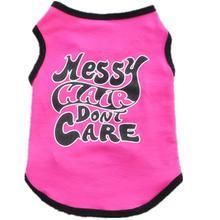 New Arrival Cute Little Pet Dog Clothes T-shirt Letter Printed Cotton Vest Princess Style Rose XS-L