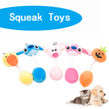 Pet Plush Squeak Pigs Toys Puppy Chew Toy Lovely Cartoon Supplies Cleaning Teeth Biting Pumpkin Head Rope Sound 31CM