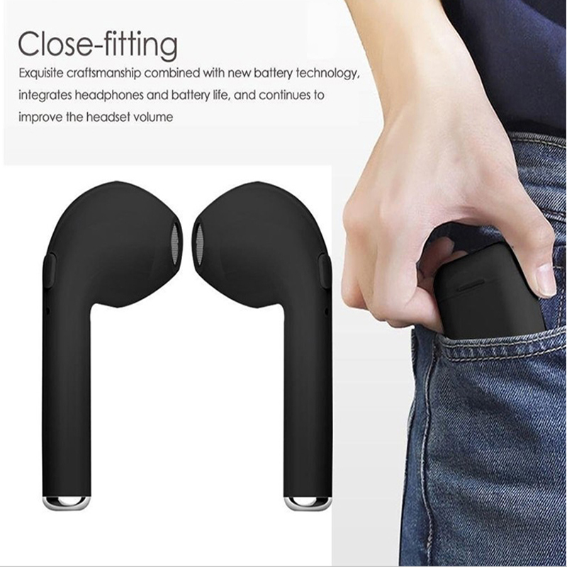 HBQ i7S Afans Small Cordless With Charging Case Fully Wireless Stereo Headset <font><b>i8</b></font> <font><b>tws</b></font> Earbuds For Android and image