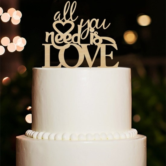All You Need is Love Wedding Cake Topper Romantic Love Engagement     All You Need is Love Wedding Cake Topper Romantic Love Engagement Cake  Topper Rustic Wood Wedding