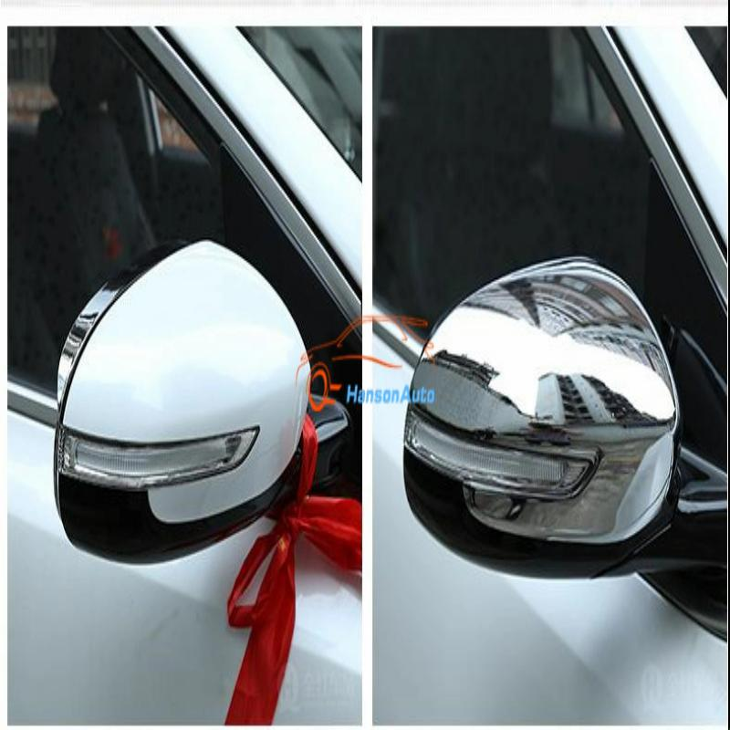 Car Styling for Kia Sportage KX5 2016 2017 Accessories Abs Chrome Rear Side Door Rearview Mirror Cover Trim Car Sticker Stickers free shipping for kia sportage door window switch with side mirror switch window lifter switch