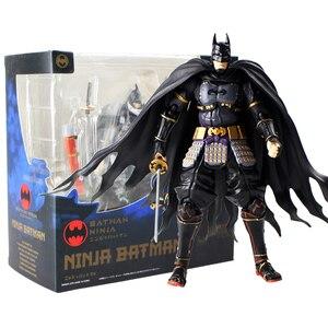 17 см супер герой Бэтмен Фигурка SHF японского ниндзя Бэтмен ПВХ фигурка Коллекционная модель игрушки