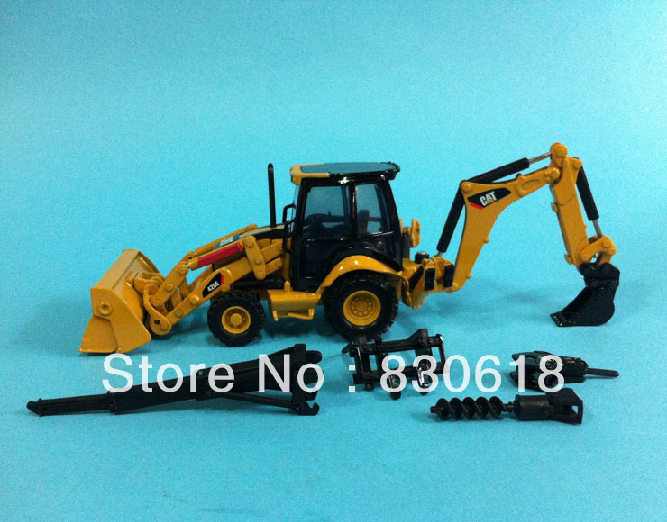 1:50 skaala DieCast norscot caterpillar cat 420E CENTER PIVOT BACKHOE LOADER Ehitusmasinate mänguasi