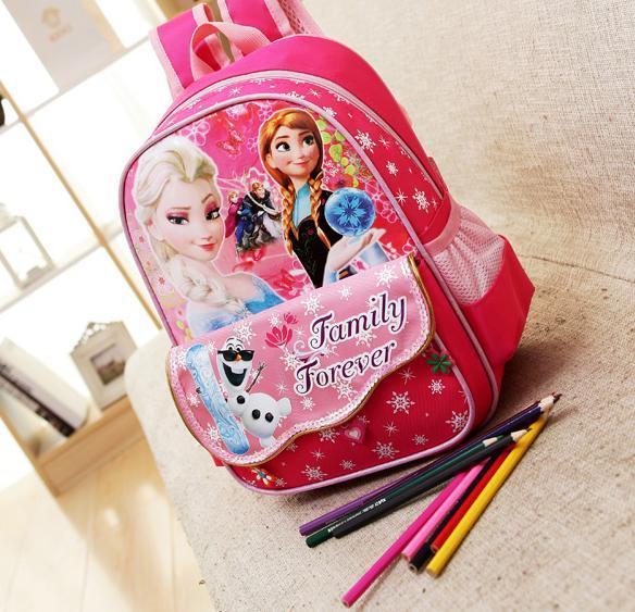 The Snow Queen Elsa Printing Backpack for girls School Bags Children Gifts Unisex kids school bag B002