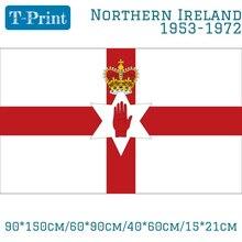 лучшая цена Free shipping 90*150cm/60*90cm/40*60cm/15*21cm 3x5ft Northern Ireland 1953-1972 Irish Red Hand Flag Polyester Banner