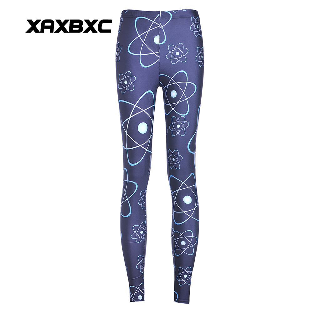 New 3553 Sexy Girl Pencil Pants Satellite Planet Moon Earth Printed Elastic Slim -3120