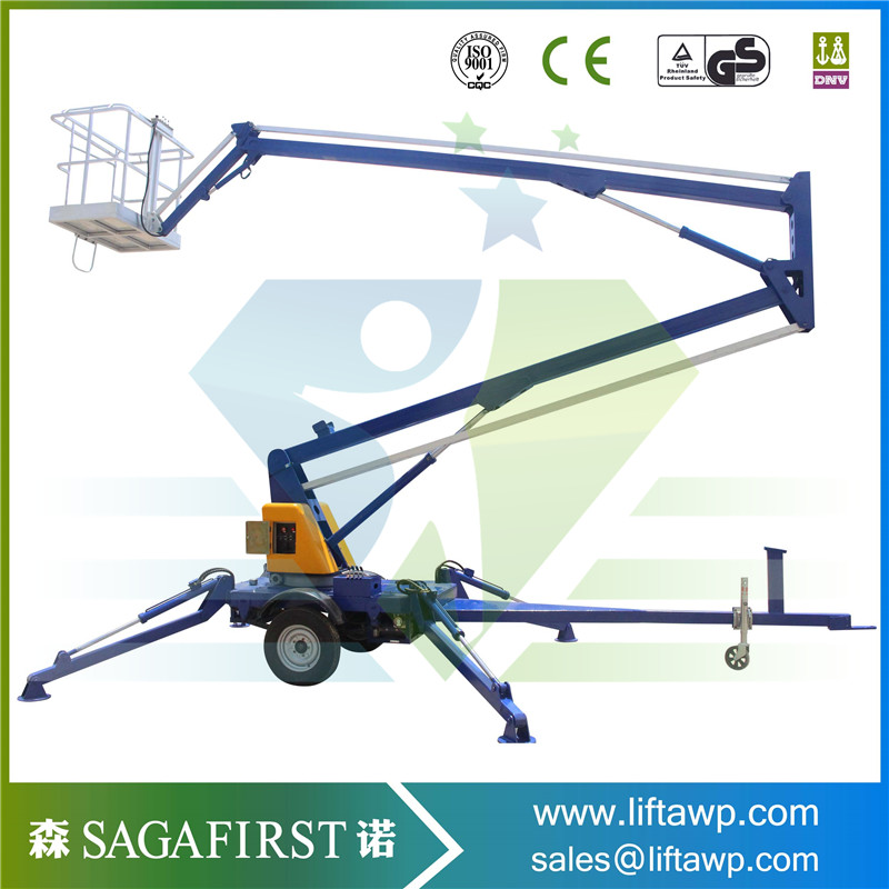 6-18m Diesel Power Hot-selling Genie Boom Lift Tyre/aerial Work Lift For Sale