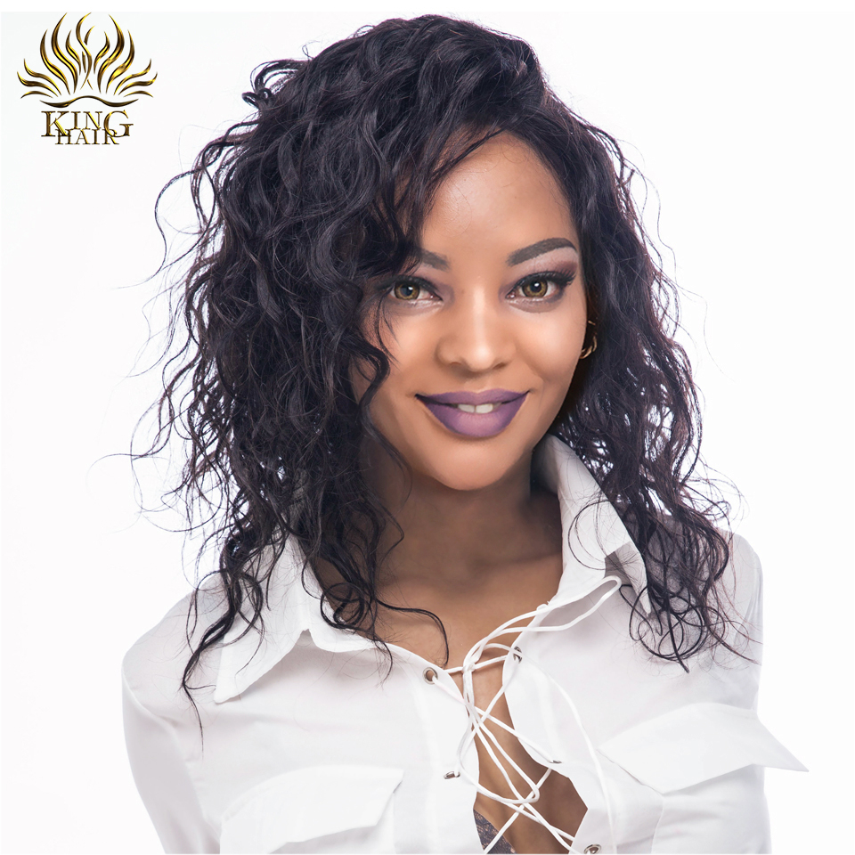 King Hair Brazilian Remy Hair Short Bob Wigs With Baby Hair Pre Plucked Hairline Lace Front