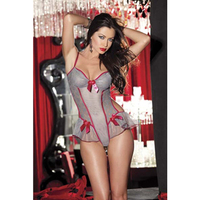 2015 Top Selling Cheap Pink and Grey Sexy G String Teddy Lingerie Sheer Mesh and Lace Transparent Babydoll Teddy Wear L81115-2