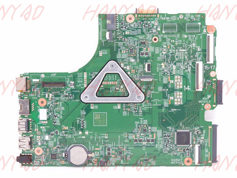 Купить с кэшбэком CN-0CW5N0 0CW5N0 For DELL 3443 3543 Laptop Motherboard i3 cpu Processor DDR3L