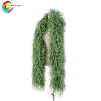 High quality 10ply Encrypted Olive green Ostrich feather shawl Width 28-30cm Ostrich feather boa Wedding Dancer decoration - DISCOUNT ITEM  15% OFF All Category