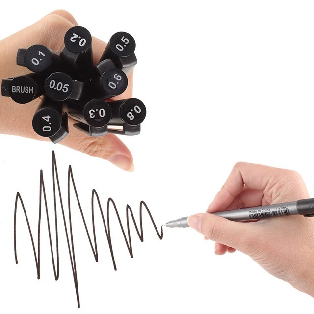 Black Fine Tip Inking Pens For Drawing Archival Ink Pen Fineliner Sketching Pens for Drafting Manga Pens Writing 1