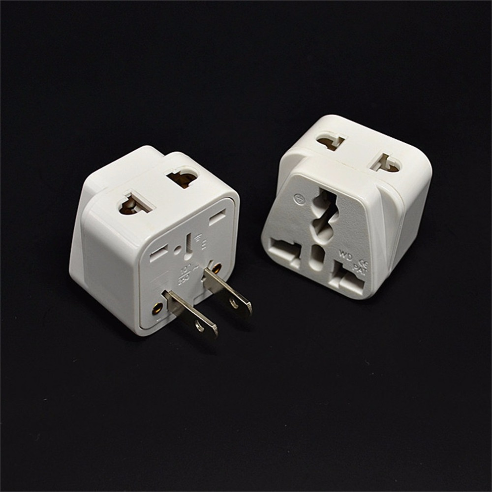 in Stock! 2 pin AC American USA Power Plug Adapter Travel Converter Australia UK USA EU Wholesale Hot New Promotion