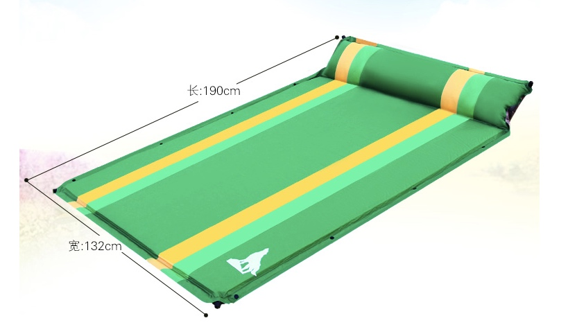 Outdoor Inflatable Cushion Sleeping Bag Mat Fast Filling Air Moistureproof Camping Mat With Pillow Sleeping Pad naturehike camping mat outdoor inflatable cushion fast filling air moistureproof camping mat with pillow sleeping pad 460g