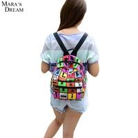 2015 New Woman Backpack Hot Sale Canvas School Bag Printing Lightweight School Backpacks Fashion Women S