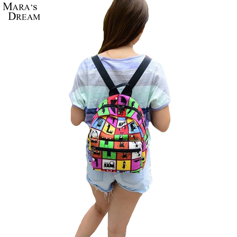 2017 New Woman Backpack Hot Sale Canvas School Bag Printing Lightweight School Backpacks Fashion Women's Bags