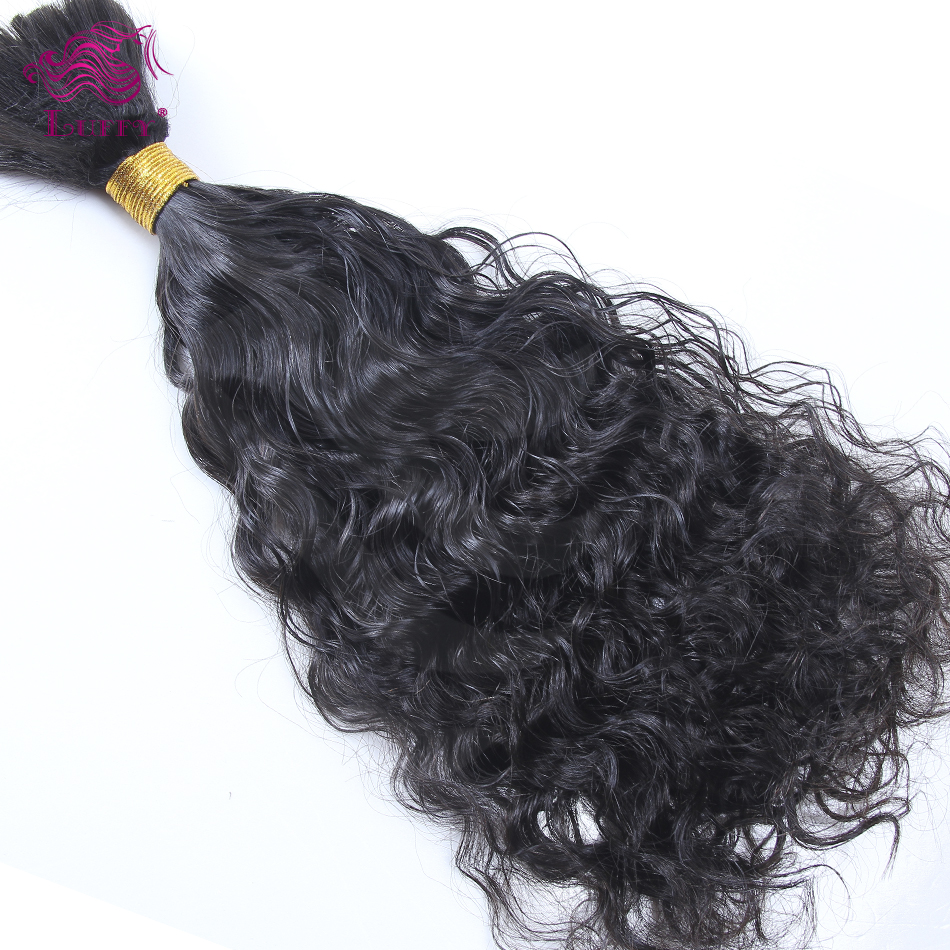 7A Best Quality Virgin Human Bulk Hair Extensions Unprocessed Brazilian Curly Bulk Hair For Braiding Loose Curly Human Hair Bulk