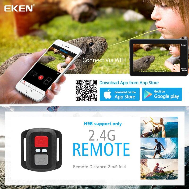 Eken h9 câmera de ação h9r wifi