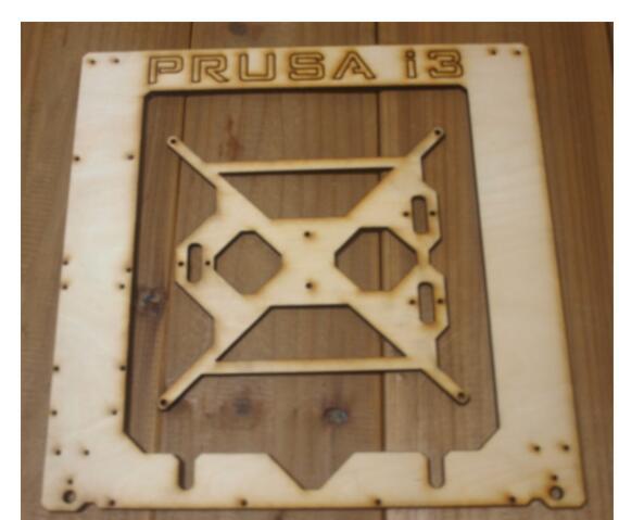 Prusa I3 Hephestos 3D imprimante 6mm en bois découpé au laser cadre kit Unique Feuille Framebase 3D Imprimante BRICOLAGE 6mm