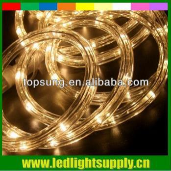50M round 2 wires outdoor rope light 110v 36leds/m 10mm waterproof led neon light for festival red,green,blue,yellow,white, RGB