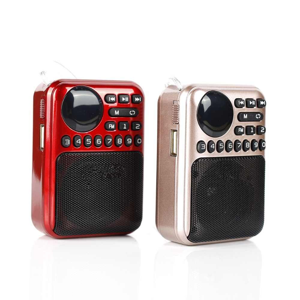 radio mini Portable speakers outdoor Dancing speaker tf card fm radio Music Surround MP3 player old manC-857