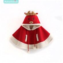 Korean version of the children's clothing for fall/winter girls autumn and winter plus velvet padded cartoon Moose Cape cloak