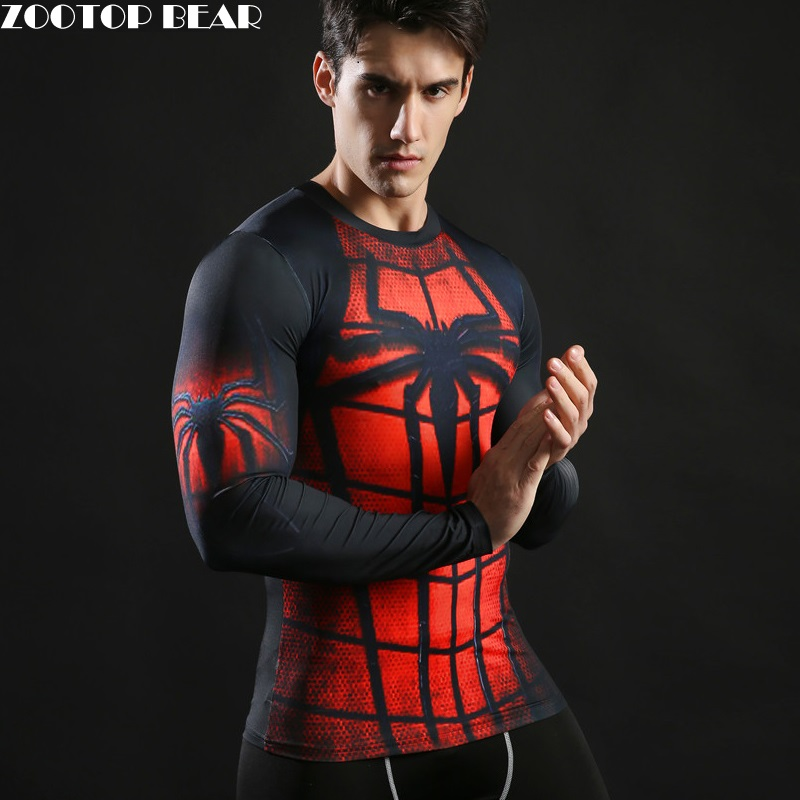 Buy spiderman tops printed 3d tee men for Compressed promotional t shirts