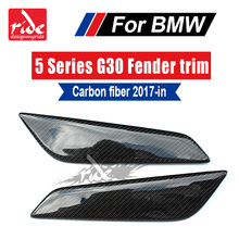 G30 High-quality Carbon Fiber Fender trim Car Front Side Air Vent Cover Trim for BMW 5-Series 2017+