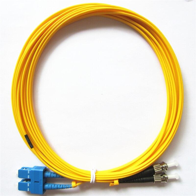 Factory Direct Sale Telecom Grade Quality 3m SC/UPC To ST/UPC Duplex OS1 Single Mode PVC (OFNR) 3.0mm Fiber Optic Patch Cable