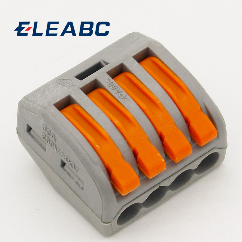 10PCS 8 Pin Universal Compact Wire Wiring Connector Conductor Terminal Block S6