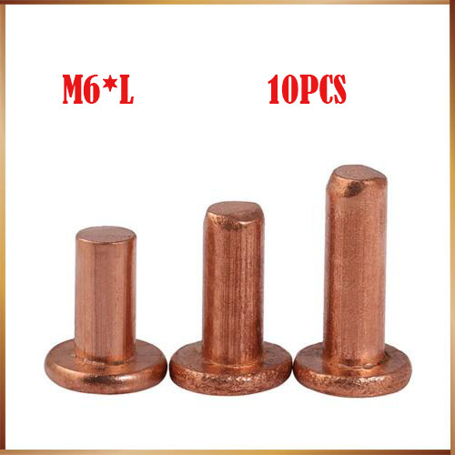 10pcs M6x8/10/12/14/16/18/20/22/25/30/35/40/45/50mm Length flat head copper rivets horizontal brass solid percussion 2017 1pc turning milling lathe 5mm thickness x 5 6 8 10 12 14 16 18 20 25 30 35 40 45 50mm x200mm length grinder hss blank tool bit
