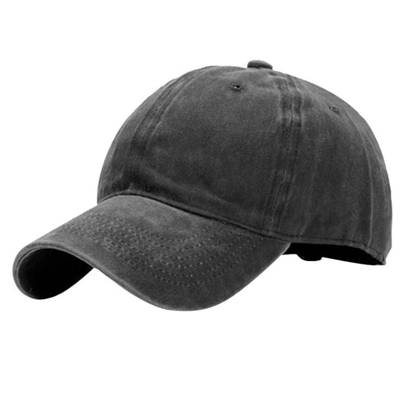 Good Unisex Couple Plain Washed Cap Style Cotton Adjustable Baseball Hat Blank Solid Leisure Fashion Snapback Cap High Quality
