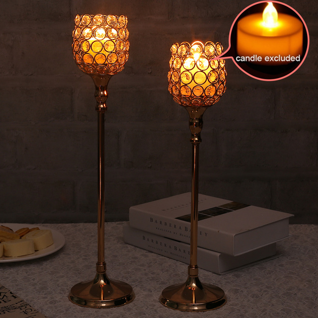 Kristall Kerze Halter Ständer Hochzeit Tisch Mittelstücke Kandelaber  Leuchter Teelicht Leuchter Für Urlaub Dekoration