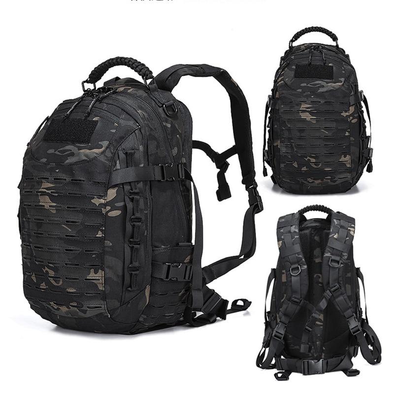 Mochila militar táctica de senderismo al aire libre bolsa de caza EDC engranaje táctico corte láser Molle PALS Multicam bolsa 25L bolsa de Camping bolsa de deporte