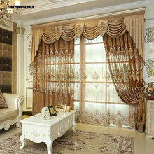 Curtains for Living Dining Room Bedroom New Embroidery European Luxury Villa Balcony