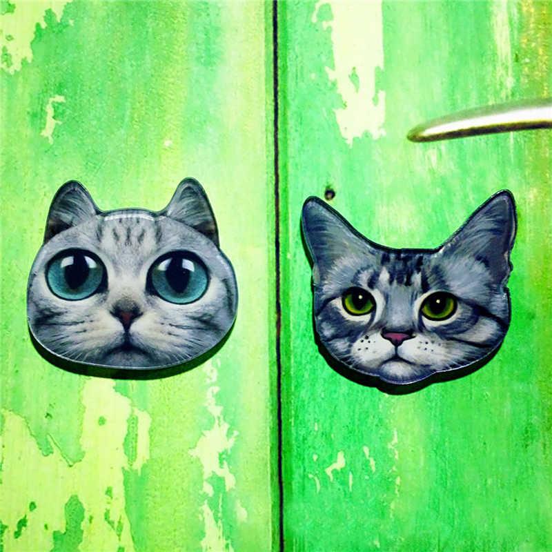 1 PC Hot Sale Star Meow orang Dekorasi Akrilik Bros Lencana Pin Pada Ransel Wanita Pakaian Dekoratif Bros Kucing Pin