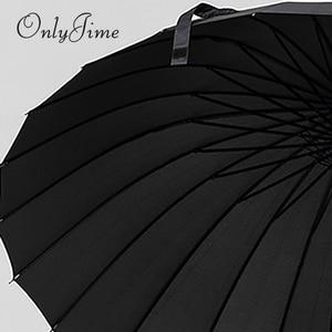 Image 5 - Sólo Jime paraguas espada de samurái hombres de calidad a prueba de viento y resistente paraguas grande bastón largo mango Katana de moda paraguas negro