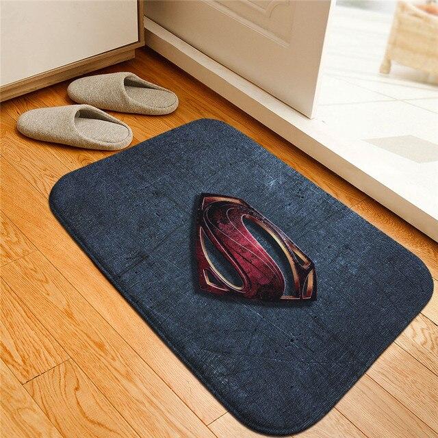 Superhero Figura Batman Superman Impresso Tapetes Anti-slip Tapetes Tapetes Bem-vindo Capacho Banheiro Tapete Tapete de Cozinha Presente