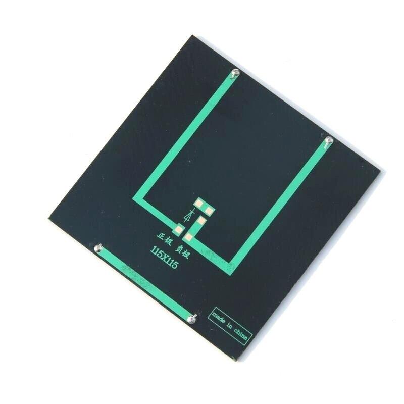 BUHESHUI 2 Вт 9 В Мини Солнечная сотовая Солнечная модуль поликристаллическая солнечная панель DIY Солнечное зарядное устройство 115*115*2 мм 5 шт./партия