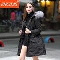 Women's Winter Jacket European Style Down Coat 2016 New Fashion Coat Female Hooded Winter Coat Women Loose Long Black Parka Y064