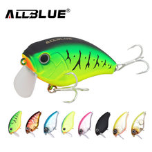 ALLBLUE Floating Shallow Diving Crankbait Fishing Lures 17g/60mm Lifelike Wobblers With 6# Hooks isca artificial peche(China)