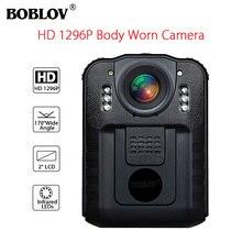 BOBLOV WN9 Wearable Body Worn Camera Novatek 96650 HD 1296P Police Cam 170 Degree 2 Inch Screen Security Mini Comcorder