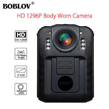 BOBLOV WN9 Wearable Body Worn Camera Novatek 96650 HD 1296P Police Cam 170 Degree 2 Inch Screen Security Mini Comcorder - DISCOUNT ITEM  24% OFF All Category