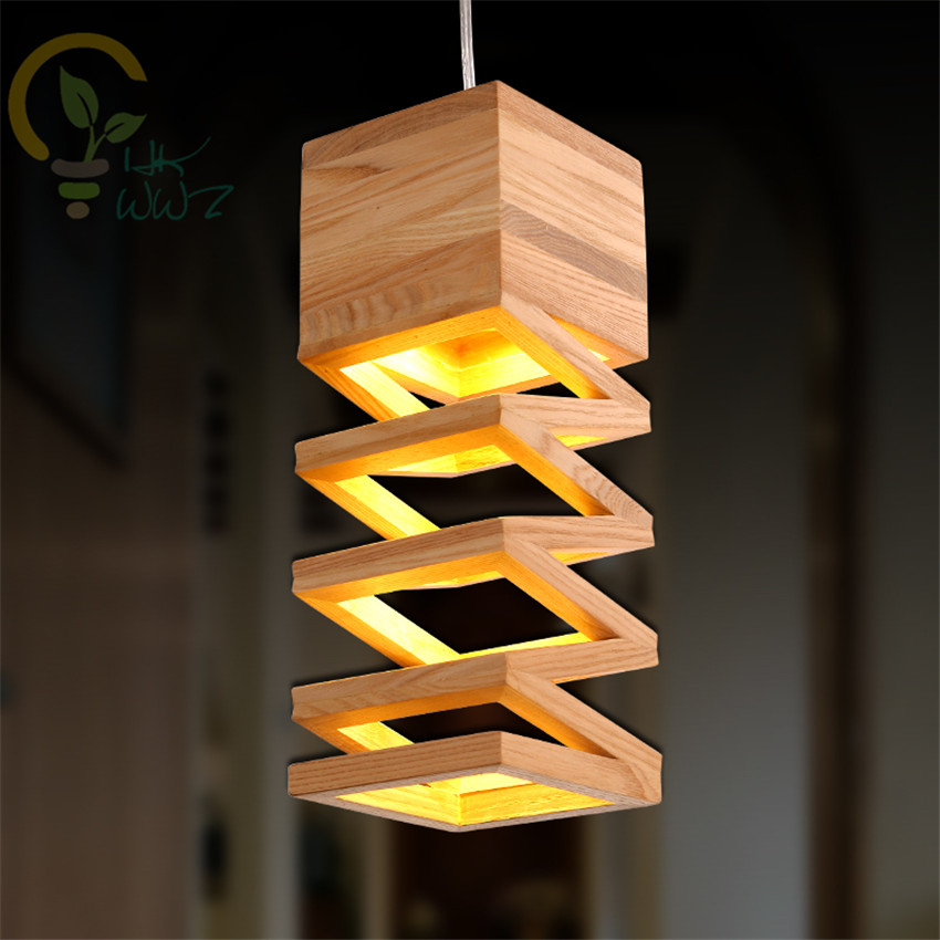 Modern Lamps Led Pendant Lights Wood Lamp Restaurant Bar Coffee Dining Room Wooden LED Hanging Light Fixture Free ShippingModern Lamps Led Pendant Lights Wood Lamp Restaurant Bar Coffee Dining Room Wooden LED Hanging Light Fixture Free Shipping