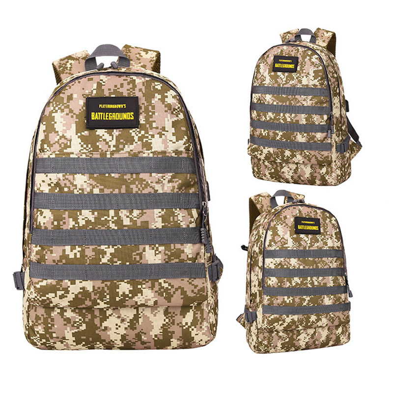 Men PUBG Backpack Multifunction Waterproof Teenage School USB Charging Backpacks Women Travel Level 3 Bag Boys Mochila BP0247 (22)