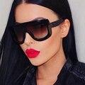 2017 Mulheres de Design Da Marca óculos de Sol Óculos de Sol Quadrados Único Vintage Extragrande Grandes óculos de Armação de Acetato de Óculos de Sol Óculos Shades
